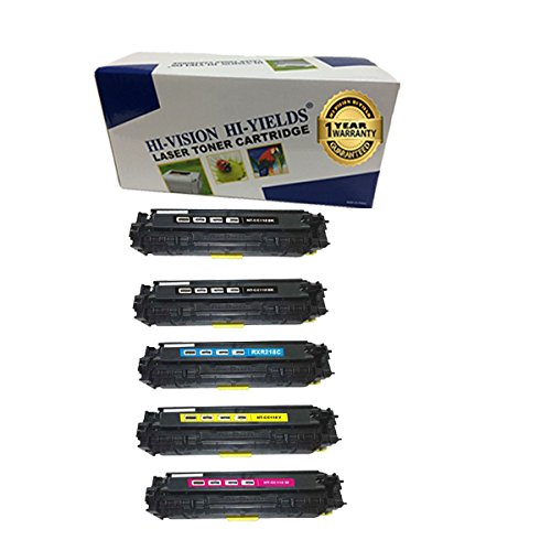 HI-VISION Compatible 2xCanon 118 Black 2662B001,118 Cyan 2661B001,118 Yellow 2659B001,118 Magenta 2660B001 Toner Cartridge for imageClass MF8580cdw,MF8380Cdw,MF8350Cdn,LBP7660cdn,LBP7200cdn 5 ()
