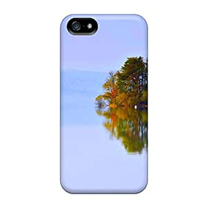 KhWzTyT7150pkrNw StellaWKeller Awesome Case Cover Compatible With Iphone 5/5s - Lake House In The Fog