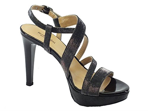 de P717890de vestir Nero mujer Notturno T Giardini Piel para Sandalias negro Nero de 901 wfZ50Bxxq