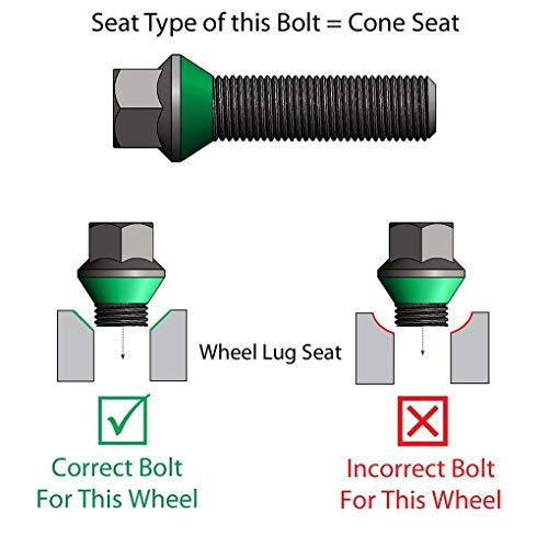 Morza Black Car Wheel Lug Bolt Screw Replacement for BMW Series M12x1.5 36136781150