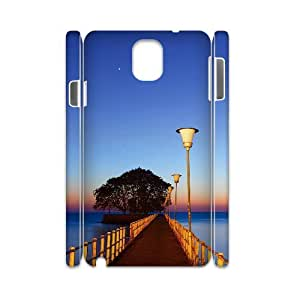 3D Samsung Galaxy Note 3 Case,Blue Sky Bridge Gallery Hard Shell Back Case for White Samsung Galaxy Note 3