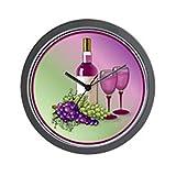 wine and grape kitchen clock - CafePress - Wine & Grapes Still Life Wall Clock - Unique Decorative 10