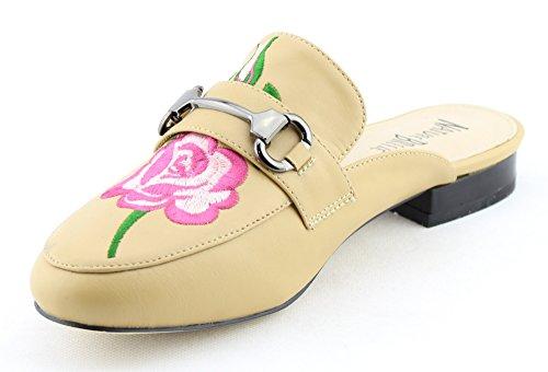 CALICO KIKI Damenmode Schuhe Slip-On Mule Slide Loafer Wohnungen Fl_beige