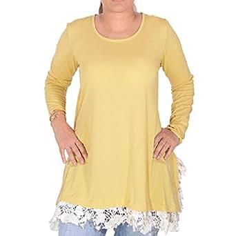 Velvetbydala Yellow Cotton Round Neck Ruffle & Peplum Top For Women