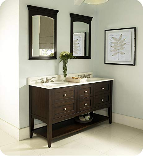 Fairmont Red Bathroom Vanity - Fairmont Designs 1513-VH6021D Shaker Americana 60