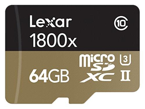 Lexar Professional 1800x microSDXC 64GB UHS-II W/USB 3.0 Reader Flash Memory Card - LSDMI64GCRBNA1800R by Lexar