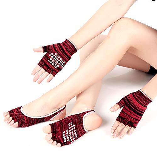 Zoylink Yoga Socks Toeless Socks Non Slip Grip Socks with Yoga Gloves – DiZiSports Store