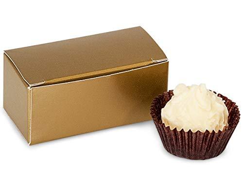 Gold Truffle - Matte Gold Candy Truffle Boxes 2-5/8x1-5/16x1-1/4