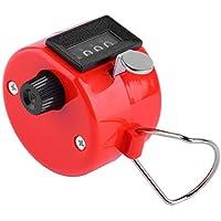 Contador manual de mano conveniente de 4 dígitos portátil de plástico + metal Contador manual de Palm Clicker Número Cuenta Golf