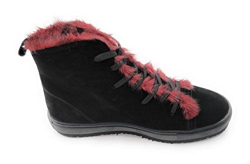negro de Piel negro Armani Zapatillas mujer para Yg66q0
