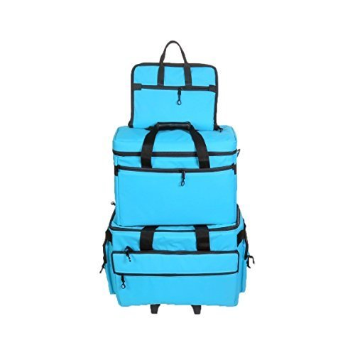 Image of BlueFig TB19 Sewing Machine Carrier/Project Bag/Notion Bag (Aqua) Carrying Cases