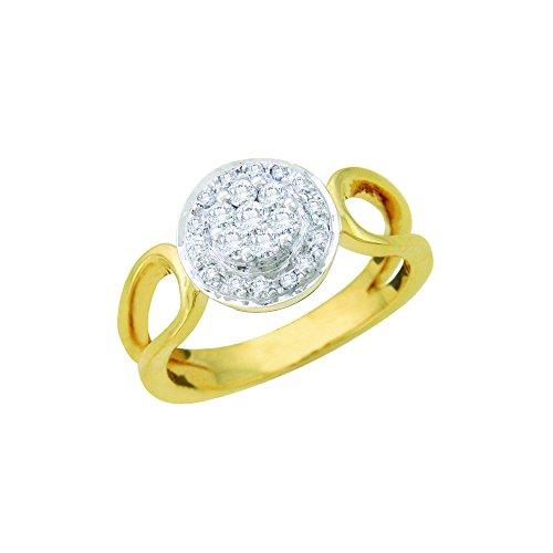 Smjewels 0.29 Cts Round Cut Sim Diamond Split Shank Wedding Ring In 14KT Yellow Gold - Gold Yellow Shank 14kt Setting