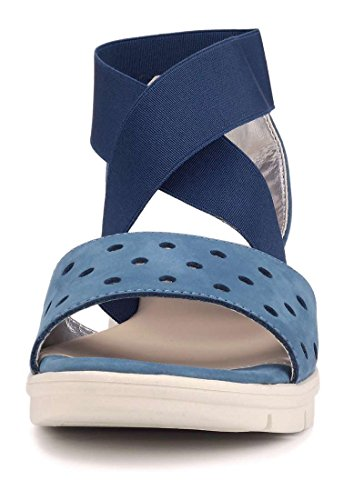 Denim The Femme Sul Flexx Set Bleu Sandale Basse rAYFrRU