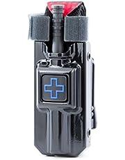 Rigid TQ Case for Generation 7 C-A-T Tourniquet, Belt (Tek-Lok) Attachment. Fits Generation 7 and Previous Versions of The CAT Tourniquet (Tourniquet Not Included) (High Gloss Black with Blue Cross)