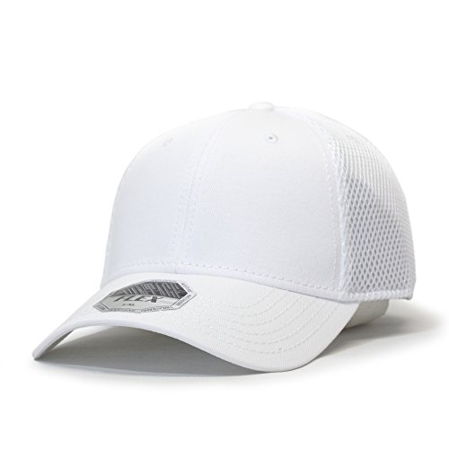 Vintage Year Plain Pro Cool Mesh Low Profile Baseball Cap With Adjustable Velcro (Flex L/XL - Ny Stores White Plains In
