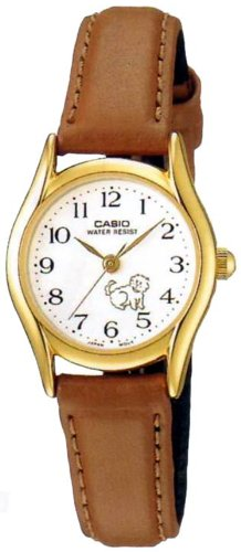 Casio White Dial Leather Strap Ladies Watch LTP1094Q7B ()