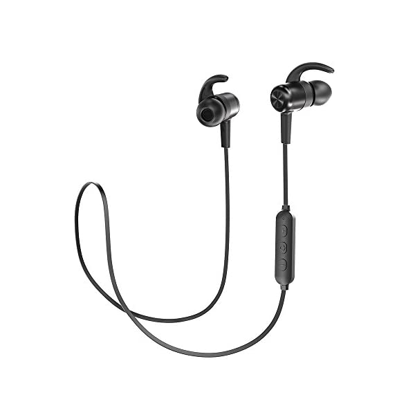 0453d96f6ab Bluetooth Headphones TaoTronics Wireless Earbuds Sport Earphones 9 Hours 4.2  Magnetic Lightweight & Fast Pairing (CVC 6.0 Noise Cancelling Mic, Snug  Silicon ...