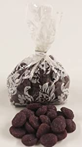 Scott's Cakes Sugar Plums in a 1 Pound White Lace Bag