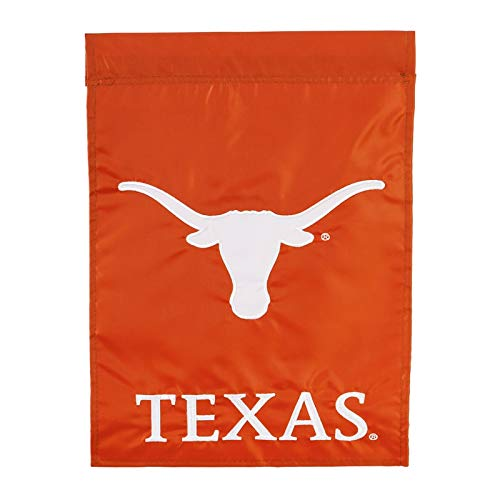 (Ashley Gifts Customizable Embroidered Applique Garden Flag, Double Sided, University of Texas)