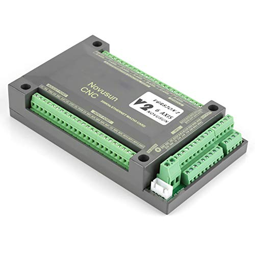 6 Axis MACH3 Motion Control Card NVEM CNC Controller Breakout Board with Limit Emergency Stop Function Suitable for Most Machine Tool Systems Ethernet Interface