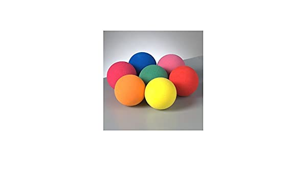 Lote de 7 pelotas de goma espuma diámetro 3 cm, CreaSoft, color a ...