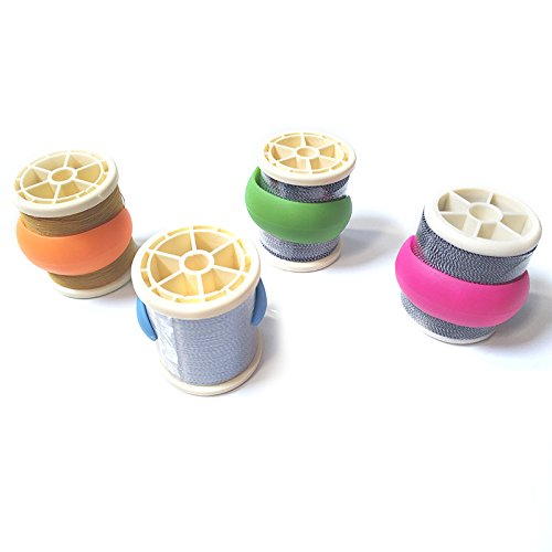 24 Pcs Peels Thread Spools Huggers for Embroidery / Sewing Machine to Prevent Thread Unwinding No Loose Ends or Thread Tails
