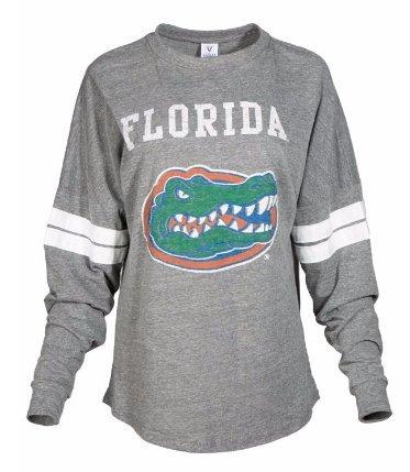 - Official NCAA University of Florida Gators The Orange and Blue GATOR NATION! Women's Long Sleeve Tri- Blend Football T-Shirt