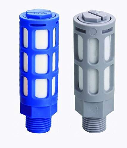 JIAIIO 10pcs/lot Pneumatic Solenoid Valve Plastic Muffler PSL-08, Thread 1 INCH Exhaust Silencer Muffler, Air Valve Noise Filter by JIAIIO