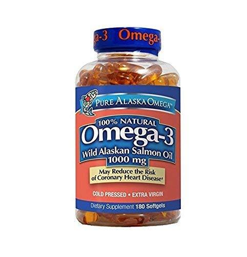 (Pure Alaska Omega-3 Wild Alaskan Salmon Oil 1000mg Softgels 2 Packs (210-Count Each))