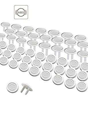Outlet Covers 50Pack Baby Proof Plug Outlet Covers White Electrical Protector Safety Caps