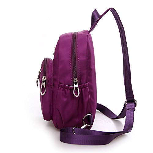 Backpack for Bag for Outdoor Sports Hiking Chest Bag Lightweight Crossbody Sling Outdoor Oxford Sling Shoulder Women Men Waterproof Backpack Fabric Running PtqFnwxUv