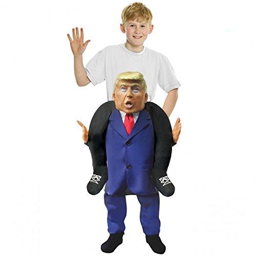 Kids Piggyback President Donald Trump Costume Ride On Childs Carry Me Dress Up]()