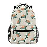 Women/Man Canvas Backpack Special Cartoon Turtle Zipper College School Bookbag Daypack Travel Rucksack