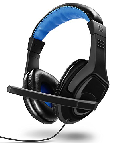 Gaming Headset, Fosmon PC Over Ear 3.5mm TRRS Plug Headphone with Built-In Microphone & Audio Control for Nintendo Switch, PS4, Xbox One X, Computer, Smartphone iPhone, Galaxy, LG, HTC & More