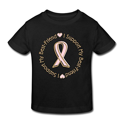 KissKid Pink Ribbon Breast Cancer Support Kids Short Sleeve Tshirt 3 Toddler