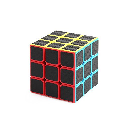 carbon fibre New 3 x 3 x 3 Black Speed Cube Puzzle