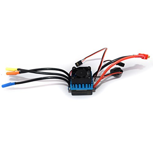 - Chartsea Sensorless 45A Brushless ESC Electric Speed Controller for RC Car Racing Set FT (45A)
