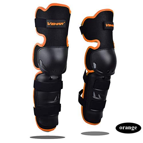 - Protectbiersn Motorcycle Knee Pads Unisex Kneepads Dance Shell Knee Guard Knee Guard Orange