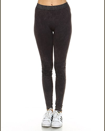 NIKIBIKI Super Soft Womens Seamless Boutique Premium Leggings (Made in the USA) (ONE SIZE, NB6547 CHARCOAL)