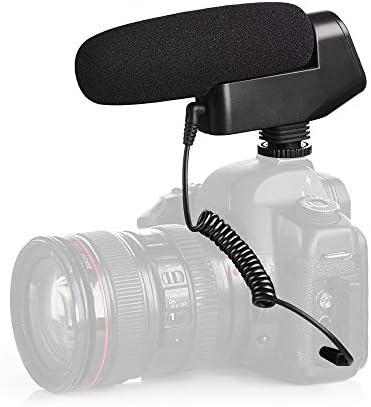 Rakuby マイク BOYA BY-VM600カーディオイドニコンペンタックスDLSRカメラ用 カーディオイド指向性 コンデンサーマイク