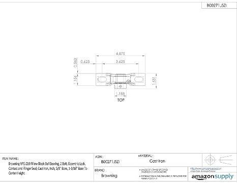 Amazon.com: Browning vpe-210 almohada bloque de cojinete de ...