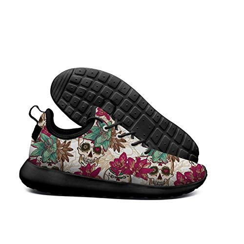 of Flowers Shoe The Skull Shoes Running AKDJDS Casual Skull Womens And Day Sneakers Mexican Dead qHBxw6g