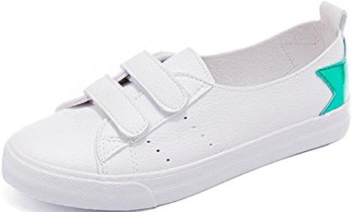 Satuki Sportsneakers Voor Dames, Plattere Platte Loafer Haak En Lus Casual Fashion Schoenen Groen