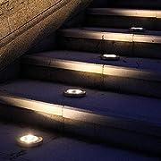 kiloid Solar Power LED Walkway Lights Path Garden Underground Light Path Lights