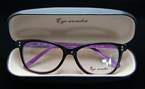 9c6467c63f Generic Col 02   Eye wonder Women Vintage Glasses Frames Designer Optical  Frame Acetate Spectacle Oculos de grau Lunettes Eyewear accessories   Amazon.in  ...