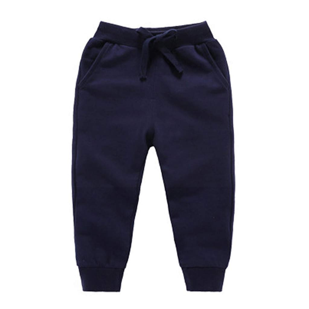 WOCACHI Toddler Unisex Kids Elastic Waist Cotton Warm Trousers Baby Pants Bottoms for 0-7 Years