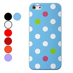 DEVIA Colorful Dots PC Material Hard Case for iPhone 5/5S (Assorted Colors) --- COLOR:Purple