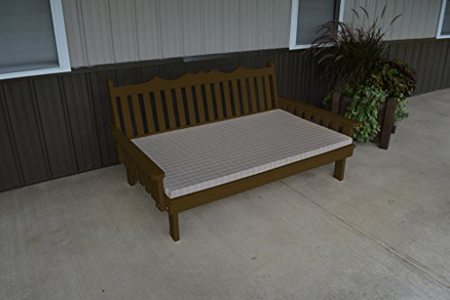 75 Inch Pine Indoor or Outdoor Royal English Daybed Amish Made- Coffee Paint ()