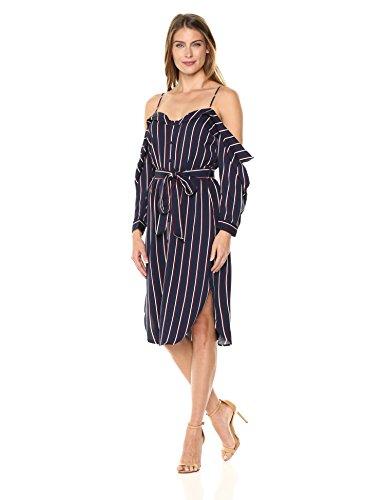 Bardot Women's Paloma Stripe Dress, Navy Stripe, XS by Bardot