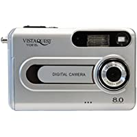 VistaQuest VQ815s 8MP Digital Camera 1.5 Color LCD Display 8X Zoom, Silver